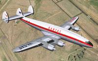 Screenshot of Qantas Lockheed L-749A in flight.