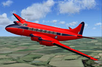 Screenshot of Queens Flight De Havilland Heron in flight.