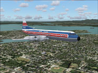 Screenshot of RAA Lockheed L-188 Electra in flight.
