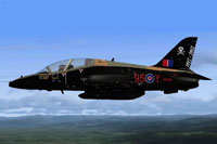 Screenshot of RAF 100 Sqn Hawk in flight.