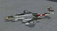 Screenshot of RAF Meteor NF14 on the ground.