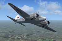 Screenshot of RAF Avro Anson C19 TX154 in flight.