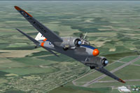 Screenshot of RAF Avro Anson C19 TX195 in flight.