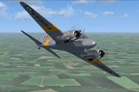 Screenshot of RAF Avro Anson T21 VV884 in flight.