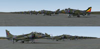Screenshot showing multiple RAF BAe Harriers.