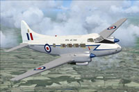 Screenshot of DeHavilland Devon C2 VP967 in flight.