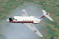 Screenshot of RAF DeHavilland Dominie T1 XS714 in flight.