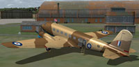 Screenshot of RAF Douglas DC-2 on the ground.