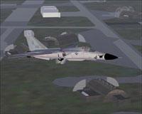 Screenshot of EF-111A 42nd ECS in flight.