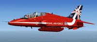 Screenshot of RAF Hawk T1a Red Arrows in flight.