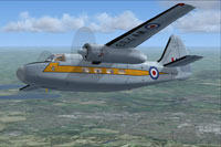 Screenshot of RAF Hunting Pembroke C1 WV733 in flight.