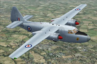 Screenshot of RAF Hunting Pembroke C1 XF796 in flight.