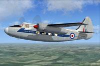 Screenshot of RAF Hunting Pembroke C1 XL929 in flight.