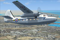 Screenshot of RAF Hunting Pembroke C1 XL955 in flight.