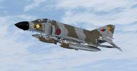 Screenshot of RAF McDonnell Phantom FGR.2 111 Sqdn 1977 in flight.