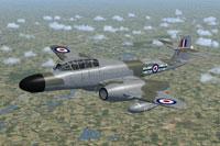 Screenshot of RAF Meteor NF11 WD673 in flight.
