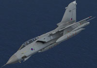 Screenshot of RAF Panavia Tornado ZD848 in flight.