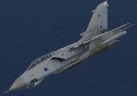 Screenshot of RAF Panavia Tornado ZA406 in flight.