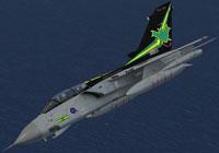 Screenshot of RAF Panavia Tornado GR1 in anniversary colors.