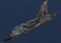 Screenshot of RAF Panavia Tornado GR1 27Sq in flight.