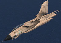 Screenshot of Gulf War Tornado GR1 in flight.