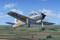 Screenshot of RAF Percival Provost XF609 in flight.