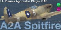Screenshot of RAF Spitfire Mk Ia Of Lt. Plagis in flight.