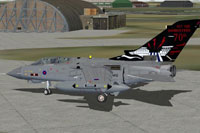 Screenshot of RAF Tornado on the ground.