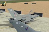 Screenshot of RAF Tornado Leuchars on the ground.