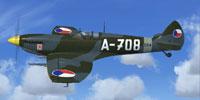 Screenshot of CAF 1947 Spitfire Mk IX in flight.