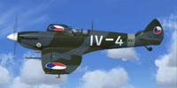 Screenshot of Spitfire Mk IX in flight.