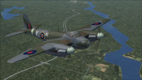 Screenshot of RCAF DeHavilland Mosquito BIV in flight.