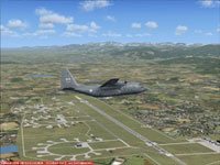 Screenshot of plane flying over Lahr Air Base.