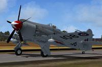 Screenshot of RCN Hawker Sea Fury FB.11 870 Sqdn on runway.
