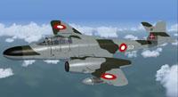 Screenshot of RDAF Meteor NF11 in flight.