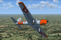 Screenshot of RDAF de Havilland Chipmunk in flight.