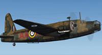 Screenshot of RNZAF Vickers Wellington P9206 in flight.