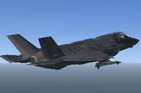 Screenshot of Lockheed Martin F-35A in flight.