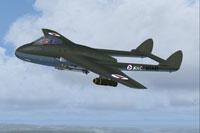 Screenshot of De Havilland Vampire in flight.