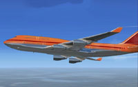 Screenshot of Boeing 747-400 in flight.