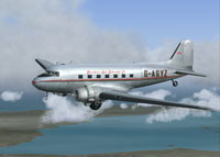 Screenshot of Railway Air Services Douglas DC-3 in flight.