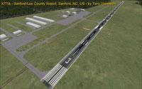Screenshot of runway 3 at Raleigh Exec Jetport.