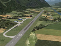 Screenshot of Raron Airport scenery.