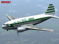 Screenshot of Real Aerovias Curtiss C-46A in flight.