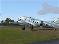 Screenshot of Aereos Douglas DC-3 on the ground.