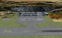 Screenshot of Rebun Airport scenery.