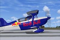 Screenshot of Red Bull Christen Eagle on runway.