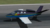 Screenshot of Red Bull Cirrus SF50 on runway.