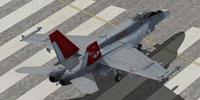 Screenshot of Red Devils F/A-18E on runway.