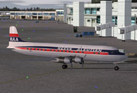 Screenshot of Reeve Aleutian Douglas DC-6B on the ground.